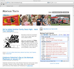 Web site for Montauk Youth